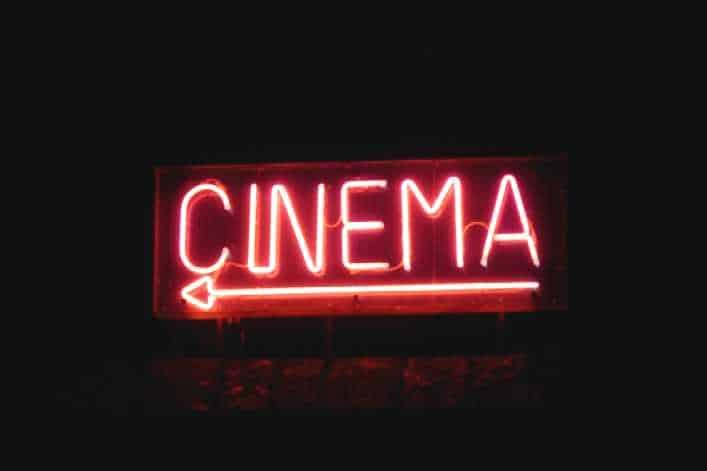 Movie night in private cinema